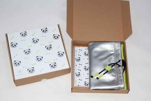 Ajándék doboz - pandás vagy masnis - Bozoki Kids Fashion