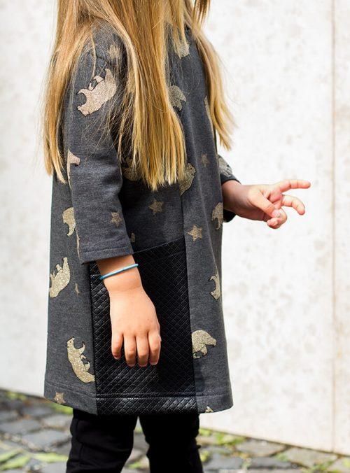 Macis ruha bőr zsebekkel - Bozoki Kids Fashion