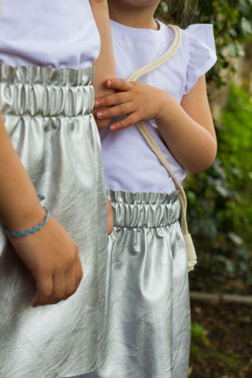 ezüst bőr szoknya - Bozoki Kids Fashion