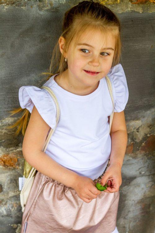 fehér fodros ujju poló - Bozoki Kids Fashion
