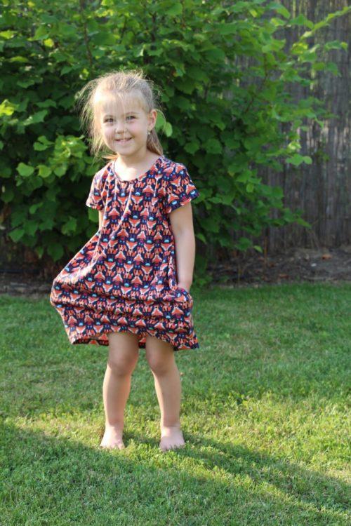 róka mintás ruha - Bozoki Kids Fashion